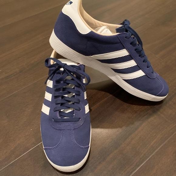 adidas Shoes   Adidas Gazelles   Color: BlueWhite   Size: 7